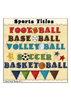 Sports Titles Clipart Collection