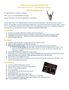 Sports Tournament Entry Forms, Flyers, Brackets Bundle