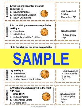 Sports Trivia Game : nBA Basketball Game Jar