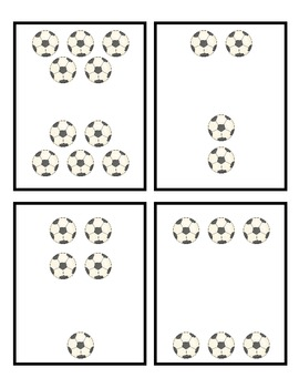 Sports Unit for Math Centers: Base Ten, Mental Math, Ten Frames