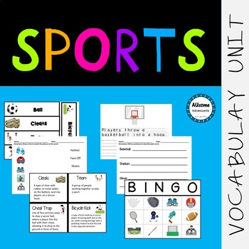 Sports VOCABULARY UNIT (SPED/Autism/Elementary)