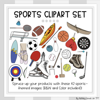 Sports Variety Clipart Set