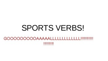 Sports Verbs / Actions
