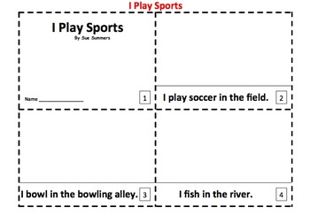 Sports Vocabulary 2 Early Reader Booklets in English
