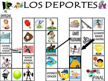 sports vocabulary activities and games unit in spanish los deportes. Black Bedroom Furniture Sets. Home Design Ideas