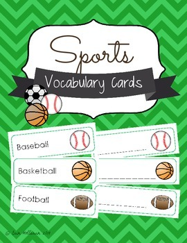 Sports Vocabulary Cards and Spelling Practice