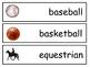 Sports Vocabulary ESL Word Wall