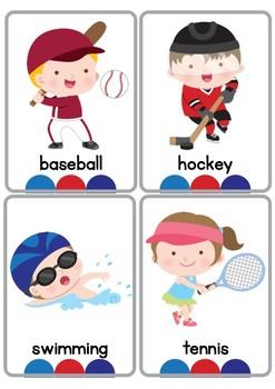 Sports Vocabulary Flash Cards