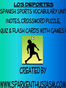 Sports Vocabulary Lists, Activities, Crossword, Games, and Quiz Unit