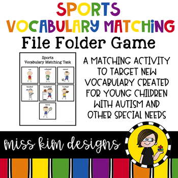 Sports Vocabulary Match Folder Game for Early Childhood Sp