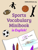 Sports Vocabulary Minibook ~ in English