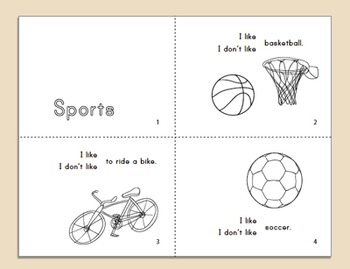 Sports Vocabulary Minibook ~ in English