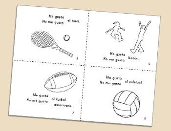 Sports Vocabulary Minibook ~ in Spanish