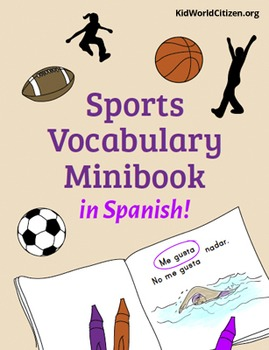 Sports Vocabulary Minibook ~ in Spanish