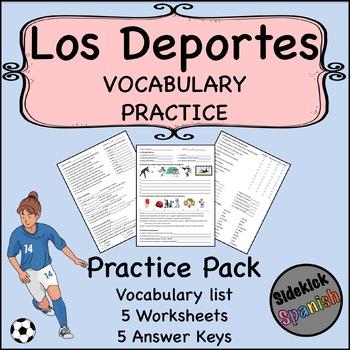 Sports Vocabulary Practice Worksheets (Así Se Dice Level 1, Chapter 5)
