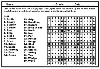 Sports Vocabulary Word Search and Collaborative Art, Project Display Bundle
