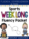 Sports Week Long Fluency Packet - Week 3 of April Packet