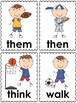 Sports Word Cards (1st grade dolch)