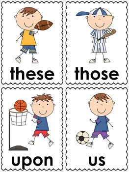 Sports Word Cards (2nd grade dolch)