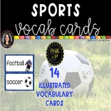 Sports Word Cards ~ Chevron ~ Vocabulary and Pictures