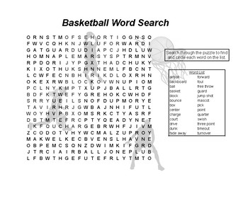 Sports Word Search