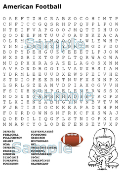 Sports Word Search Pack