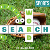 Sports Word Search Puzzle - 3 Levels Differentiated