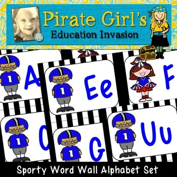 Sports Word Wall Alphabet Cards