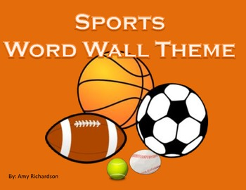 Sports Word Wall Theme