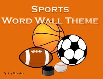Sports Word Wall Theme w/ hockey