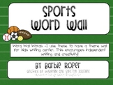 Sports Word Wall Words