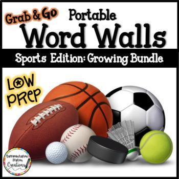 Sports Word Walls: BUNDLE SPORTS WORDS Printables Writing