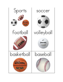 Sports Words for Writing