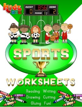 Sports Worksheets Set with Bingo Game