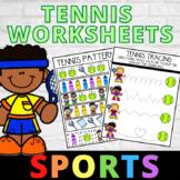 Sports Worksheets Tennis Theme Preschool and Kindergarten No Prep Printables