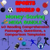 Sports World Reading Passages, Questions, & More Mega Bundle
