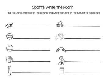 Sports Write the Room