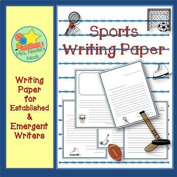 Writing Paper Templates - Sports Theme