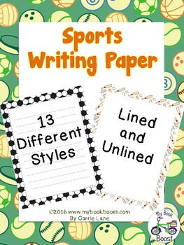 Sports Writing Paper