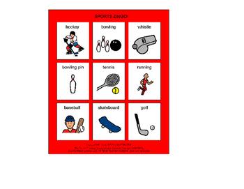 Sports Zingo! [speech therapy and autism]