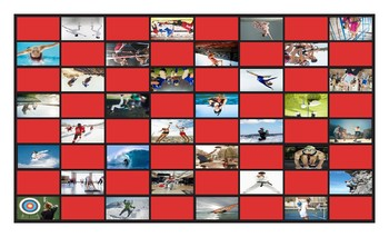 Sports and Exercise Legal Size Photo Checkerboard Game