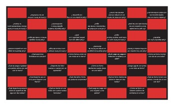 Sports and Exercise Spanish Checker Board Game