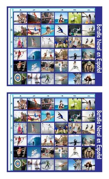 Sports and Exercise Spanish Legal Size Photo Battleship Game