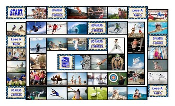 Sports and Exercise Spanish Legal Size Photo Board Game