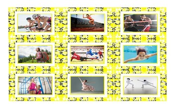 Sports and Exercise Spanish Legal Size Photo Card Game