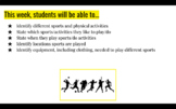 Sports and Free Time Activity Set with Videos and Interactive Project Online