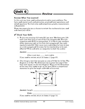 Sports and Hobbies Math: Camping-REVIEW