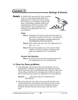 Sports and Hobbies Math: Clubs-Outings & Events
