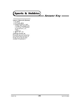 Sports and Hobbies Math: Extending Family-Memorable Moments