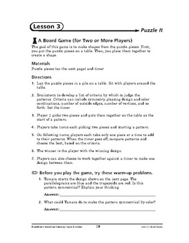 Sports and Hobbies Math: Mind Games-Puzzle It